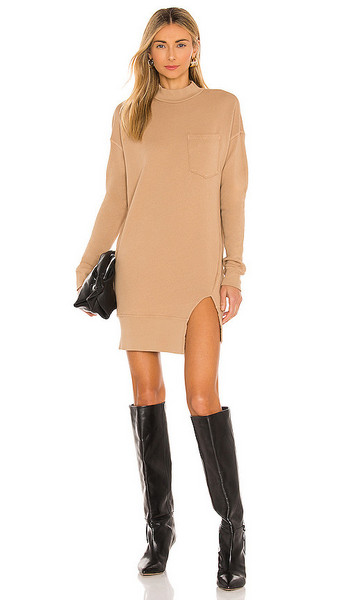 n:philanthropy Pari Dress in Tan in camel