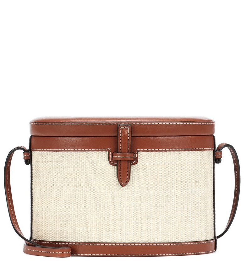 Hunting Season The Square Trunk Small canvas shoulder bag in white