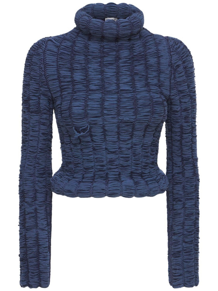 SUNNEI Ruched Sweater in blue