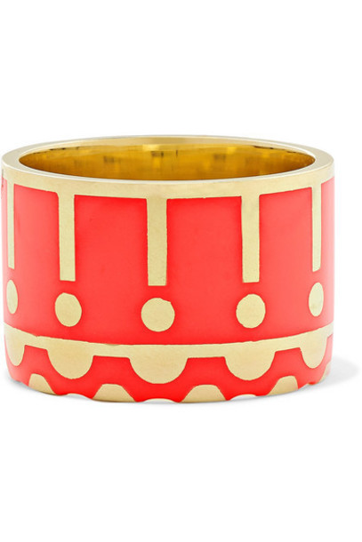 Alice Cicolini - Memphis 14-karat Gold And Enamel Ring