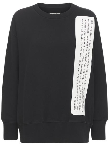 MM6 MAISON MARGIELA Oversize Unbrushed Jersey Sweatshirt in black
