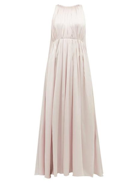 Roksanda - Aurelie Silk Charmeuse Gown - Womens - Light Pink