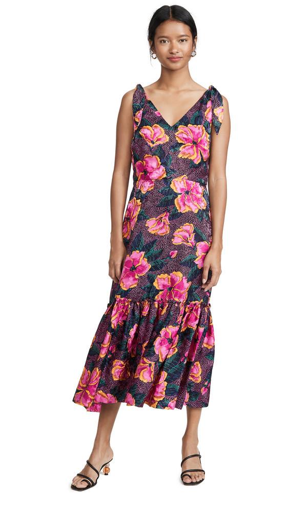 Warm Georgia Dress in pink / multi