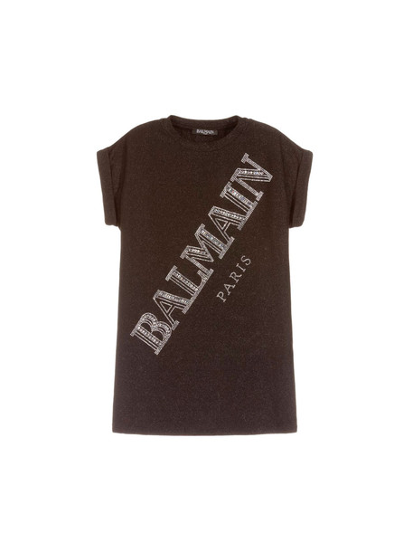 Balmain Black Glitter Dress