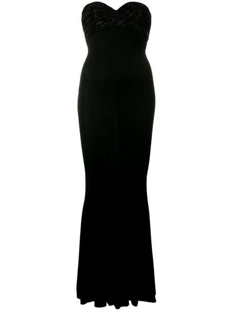Alexandre Vauthier stretch bustier dress in black