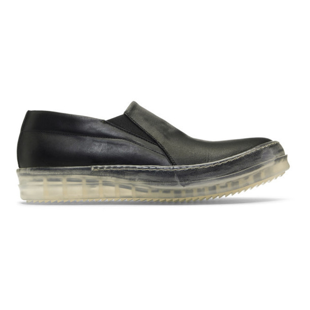 Rick Owens Black No Cap Boat Sneakers