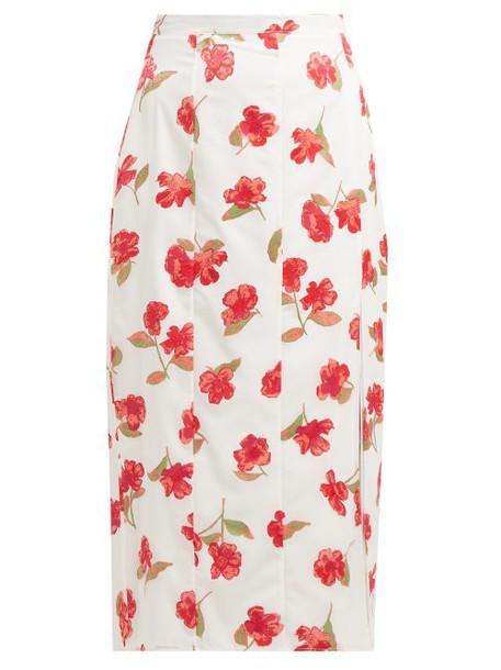 Altuzarra - Stefano Floral Devoré Chiffon Midi Skirt - Womens - White Multi