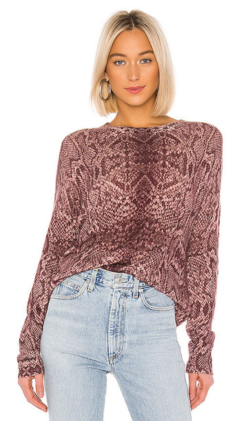 360CASHMERE Khloe Sweater in Pink