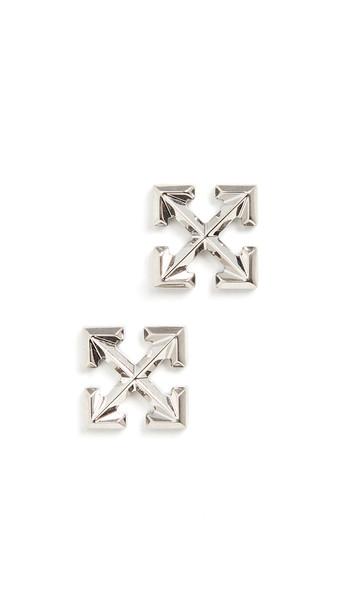 Off-White Small Arrow Earrings in silver