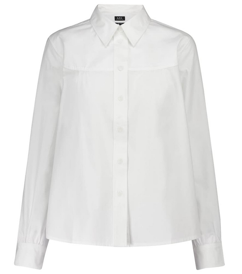 A.P.C. Pascale cotton poplin shirt in white