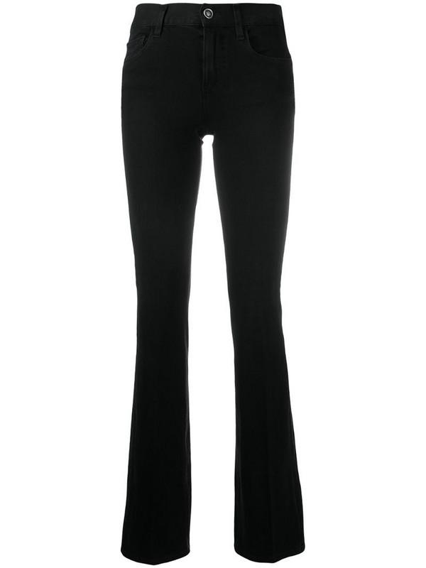 LIU JO slim-fit flared trousers in black
