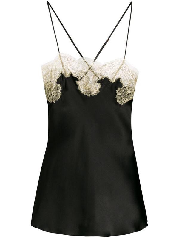Gilda & Pearl lace trim camisole in black