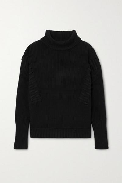 palmer/harding palmer//harding - Ateli Ribbed Cotton And Cashmere-blend Turtleneck Sweater - Black