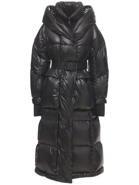 MONCLER GRENOBLE Combovin Light Laqué Down Coat in black