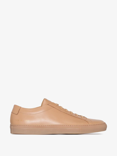 Common Projects Brown Achilles low top leather sneakers