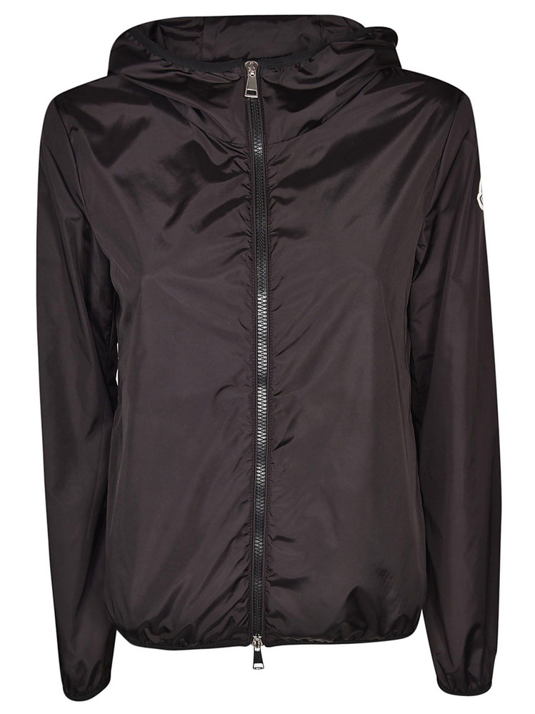 Moncler Logo Patch Jacket in black