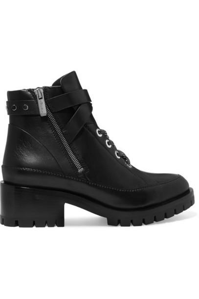 3.1 Phillip Lim - Hayett Leather Ankle Boots - Black