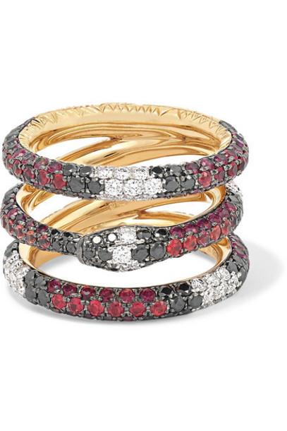 Gucci - 18-karat Gold Multi-stone Ring