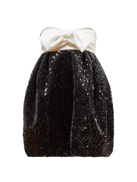 Alexandre Vauthier - Bow Embellished Sequinned Dress - Womens - Black White