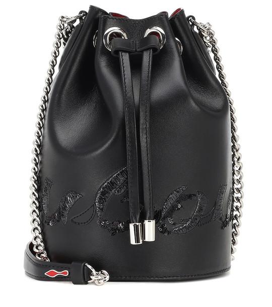 Christian Louboutin Marie Jane leather bucket bag in black