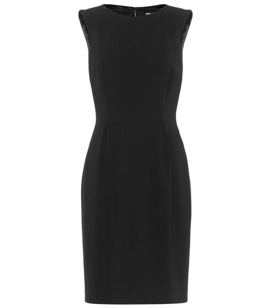 Dolce & Gabbana Sleeveless stretch-crêpe dress in black