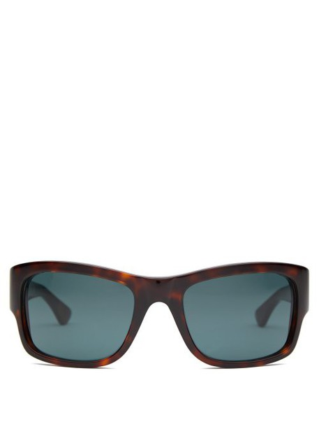 Celine Eyewear - Rectangular Acetate Sunglasses - Womens - Tortoiseshell