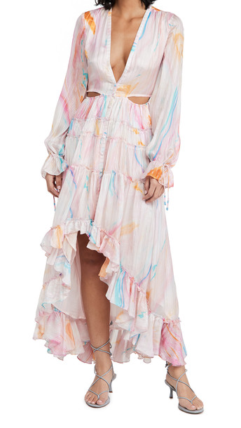 ROCOCO SAND Long Dress in pink / multi