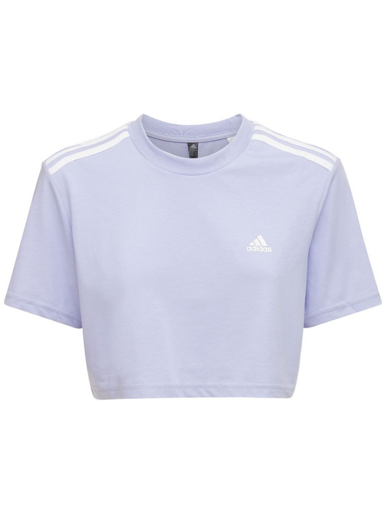 ADIDAS PERFORMANCE Cropped T-shirt in purple