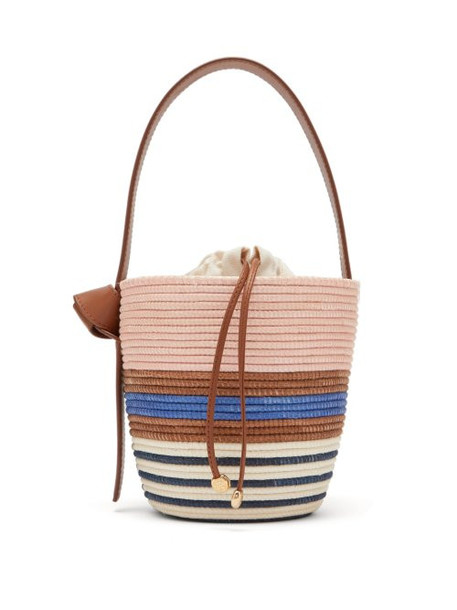 Cesta Collective - Half Breton Sisal Basket Bag - Womens - Blue Multi