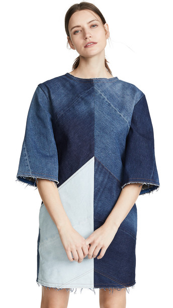 Acne Studios Dylane Artisanal Dress in indigo