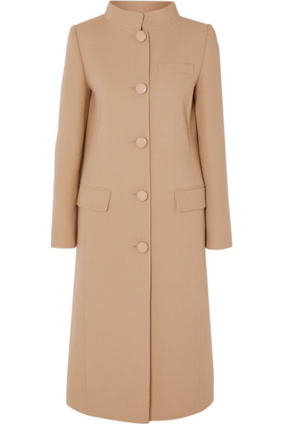 Givenchy - Wool-crepe Coat - Brown