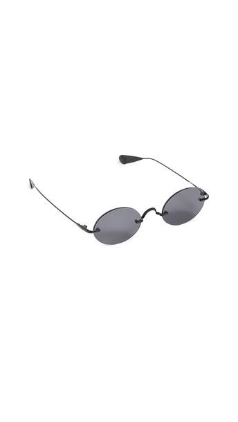 Lyndon Leone Havana Sunglasses in black