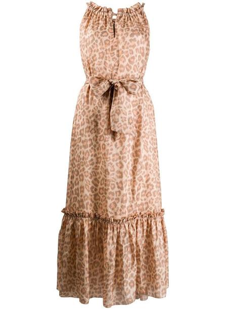 Zimmermann leopard print silk dress in neutrals