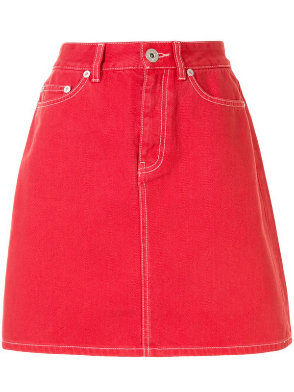 BAPY BY *A BATHING APE® high-waist mini skirt in red