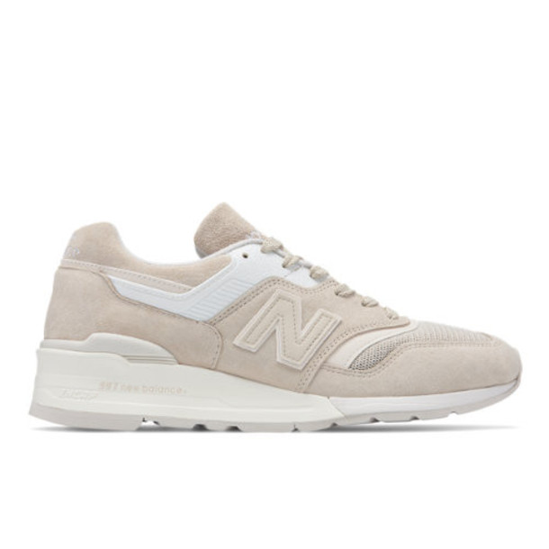 New Balance Made in US 997 Men's Made in USA Shoes - Tan/White (M997PAB)