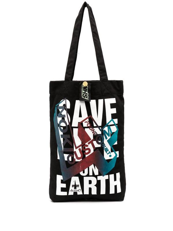 Katharine Hamnett London Save Life on Earth tote in black