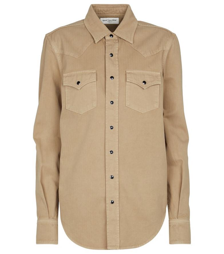 Saint Laurent Denim shirt in beige