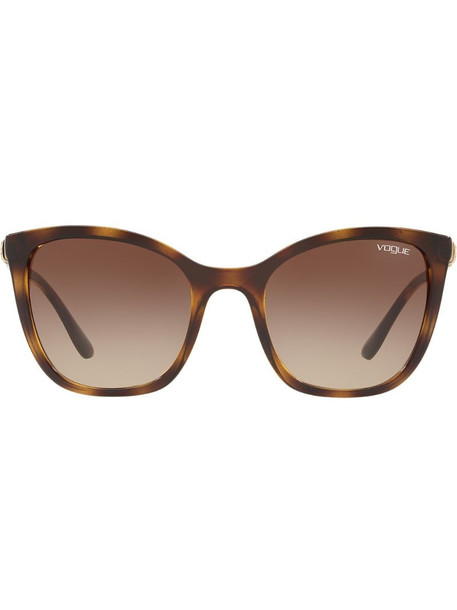 Vogue Eyewear oversized tinted sunglasses in brown