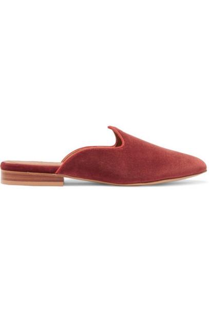 Le Monde Beryl - Venetian Velvet Slippers - Brick