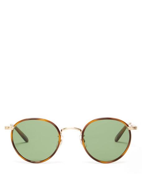 Garrett Leight - Wilson Round Acetate And Metal Sunglasses - Womens - Tortoiseshell