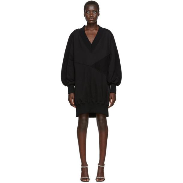 Off-White Black Intarsia Side Zip Sweatshirt Dress
