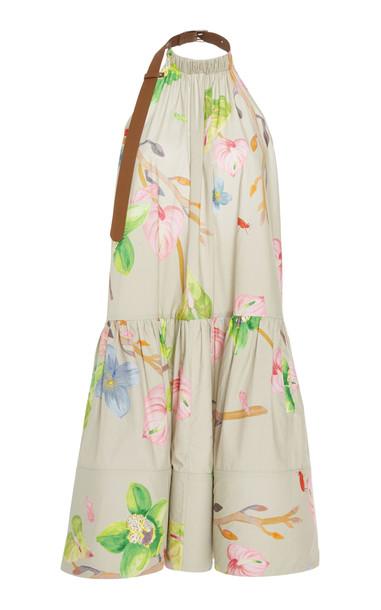Tibi Linnea halter short dress in multi