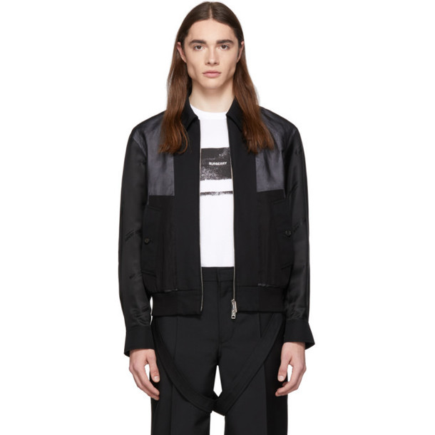 Burberry Black Double Layered Jacket