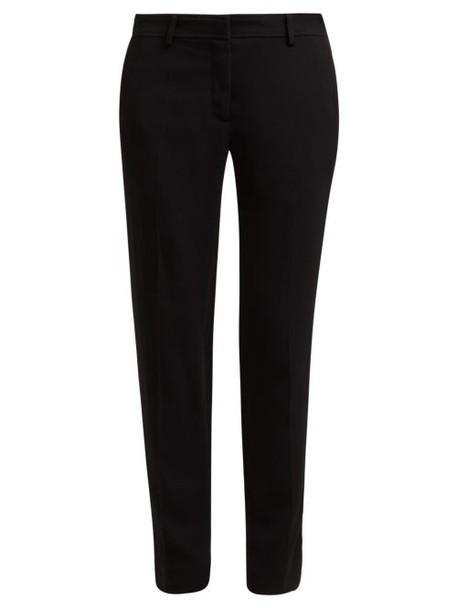 Rochas - Ospert Stretch Crepe Trousers - Womens - Black