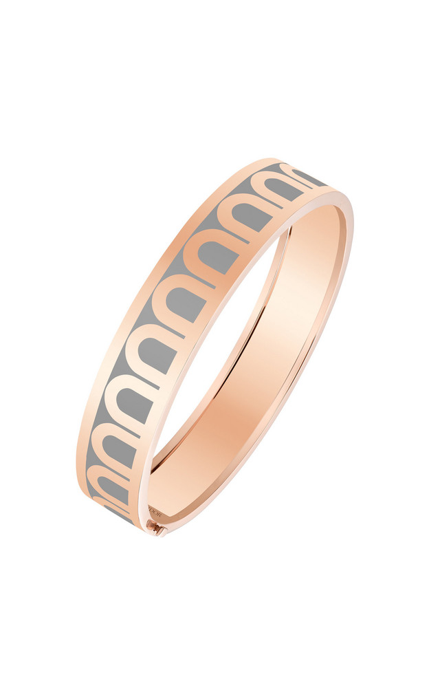 DAVIDOR L'Arc 18K Rose Gold and Lacquered Ceramic Bangle in grey