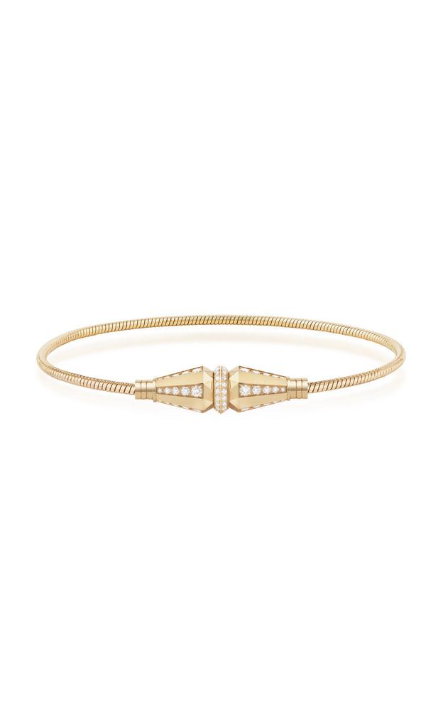 Boucheron Jack de Boucheron Single Wrap Bracelet with Diamonds in gold