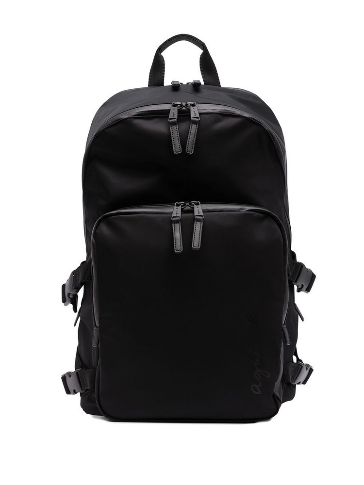 agnès b. agnès b. zip-fastening backpack - Black