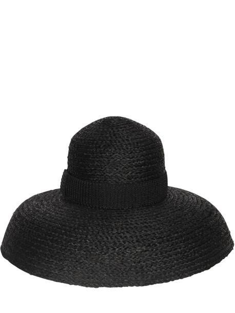 ERMANNO SCERVINO Raffia Hat in black