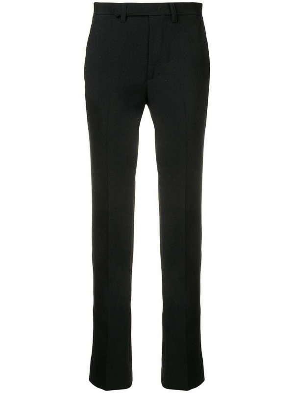 Facetasm cut-detail tailored trousers in black