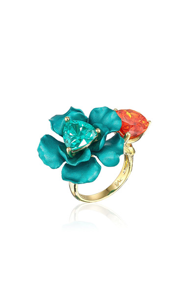 Anabela Chan Mandarin Paraiba Bloom Ring in blue